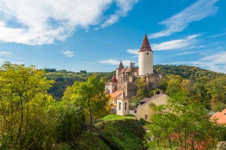 Famous Czech medieval castle of Krivoklat, central Czech Republic Reklamní fotografie