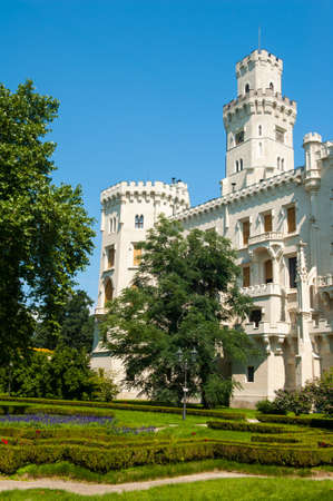 Beautiful renaissance castle Hluboka i the Czech Republic is located in gardens Editorial
