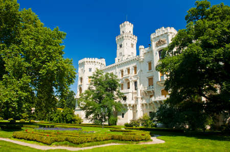 budejovice: Beautiful renaissance castle Hluboka i the Czech Republic is located in gardens Editorial