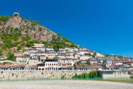 Oude Albanees stad Berat