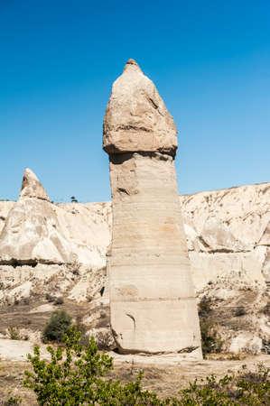 Fairy tale chimneys in Love Valley near Goreme, Cappadocia, Turkey Stock Photo