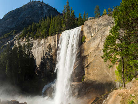 sierra: Beautiful Vernal Falls is located on Merced river. Yosemite National Park, California, USA.
