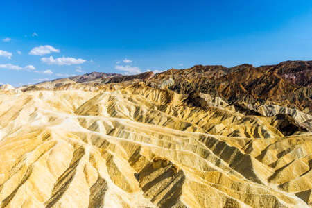 Badlands of the Death Valley National Park seen from Zabriskie Point. California, USA Stok Fotoğraf