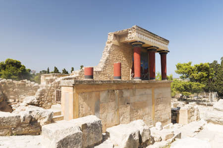 North Entrance to ancient Knossos Palace, Crete, Greece