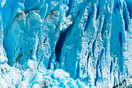 Detail of a old turquoise ice of Perito Moreno glacier. Los Glaciares national park, Argentina