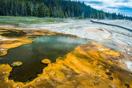 Darl geothermal pool in Yellowstone National Park, Wyoming - USA