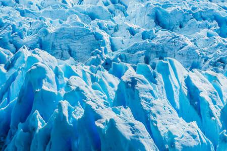 Detail of a old turquoise ice of Perito Moreno glacier. Los Glaciares national park, Argentina