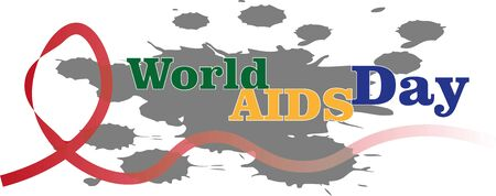 illustration of the world aids day icon or logo background design Иллюстрация