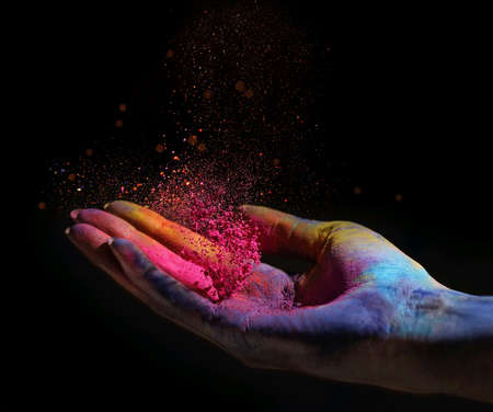 Celebrate holi with a colorful powder