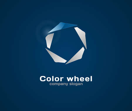 Color wheel. Abstract vector business background. Eps10.