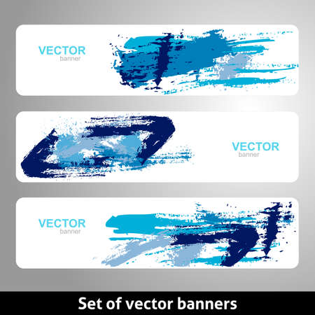 Set of vector banners. Grunge design template.