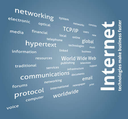 Internet. Ð¡oncept wordcloud. Vector design advertise. keywords.
