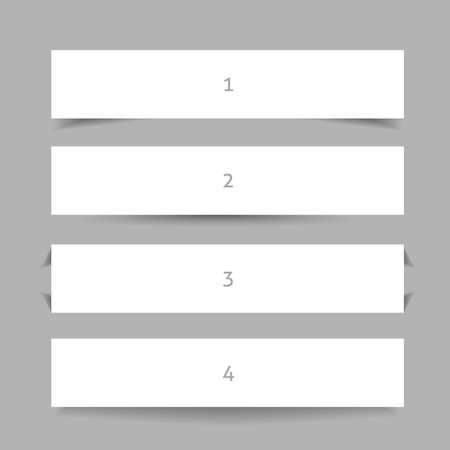 Banner shadow. Set of banners with different shadows.  Vector