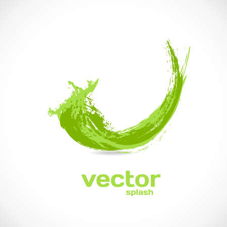 Vector Splash. Abstract wave background. Grunge icon.
