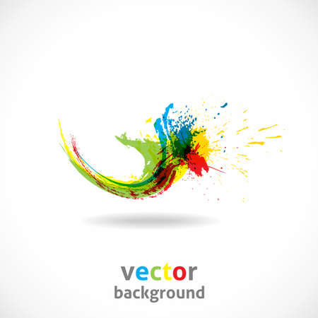 Color Ink Splash. Vector Grunge Background. Abstract wave. Illustration