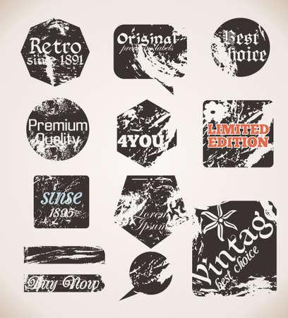 paper textures: Vintage Labels Old Paper Textures Illustration