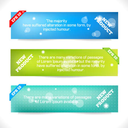 header label: Color Banner Abstract Design Template