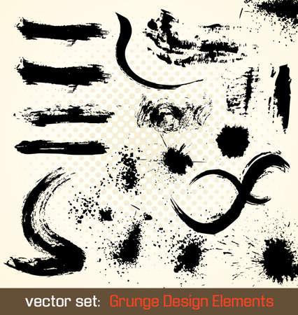 Grunge Design Elements. Splash Illustration.