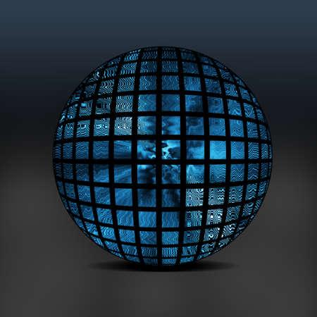 Abstract Globe Design.