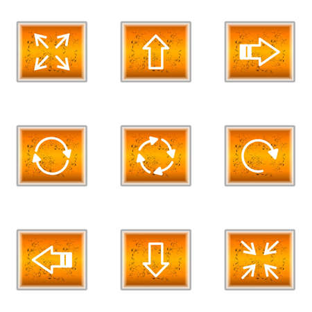 Set of 9 glossy web icons (set 2). Stock Vector - 16241255