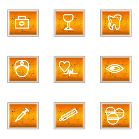 Set of 9 glossy web icons (set 6). Stock Vector - 16241258