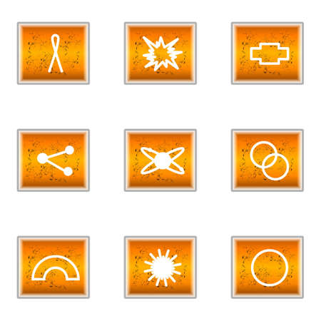 Set of 9 glossy web icons (set 10). Stock Vector - 16241257