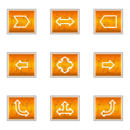 Set of 9 glossy web icons (set 12). Stock Vector - 16241254