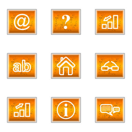 Set of 9 glossy web icons (set 13). Stock Vector - 16241269