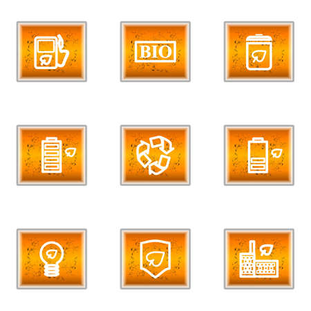 Set of 9 glossy web icons (set 16). Stock Vector - 16241370