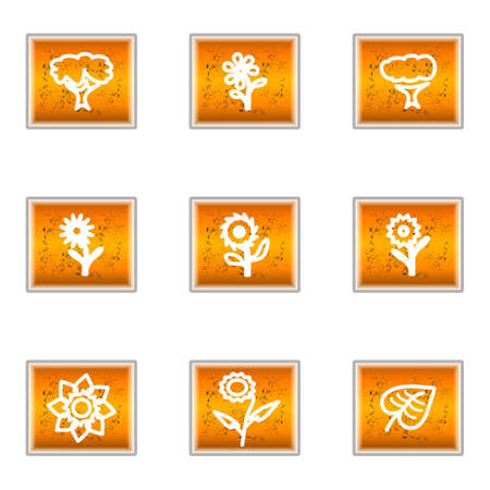 Set of 9 glossy web icons (set 18). Stock Vector - 16241368