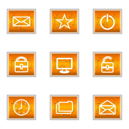 Set of 9 glossy web icons (set 21). Stock Vector - 16241261