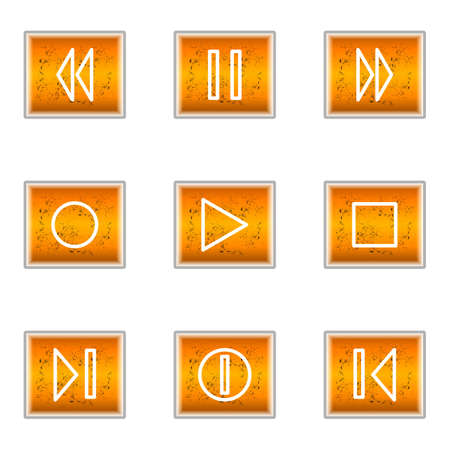 Set of 9 glossy web icons (set 23). Stock Vector - 16241253