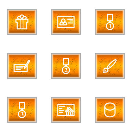 Set of 9 glossy web icons (set 25). Stock Vector - 16241243