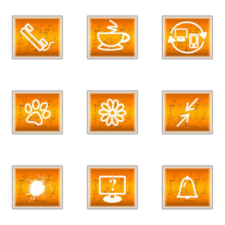 Set of 9 glossy web icons (set 26). Stock Vector - 16241431