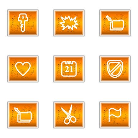 Set of 9 glossy web icons (set 27). Stock Vector - 16241252