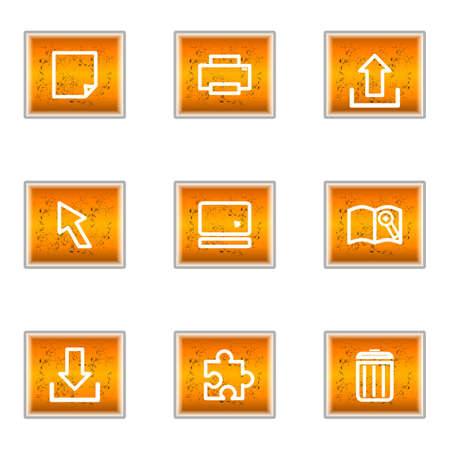 Set of 9 glossy web icons (set 28). Stock Vector - 16241259