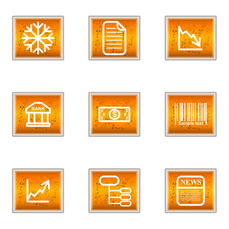 comerce: Set of 9 glossy web icons (set 29).