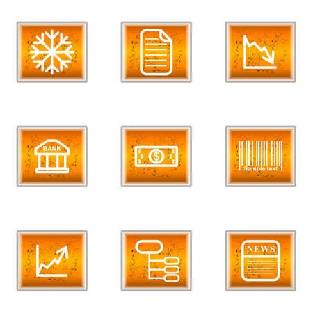 comerce: Set of 9 glossy web icons (set 29).