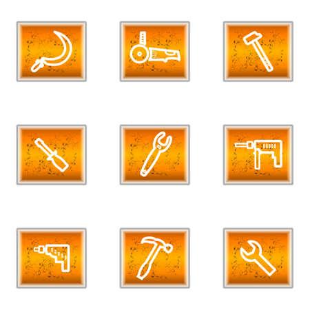Set of 9 glossy web icons (set 31).