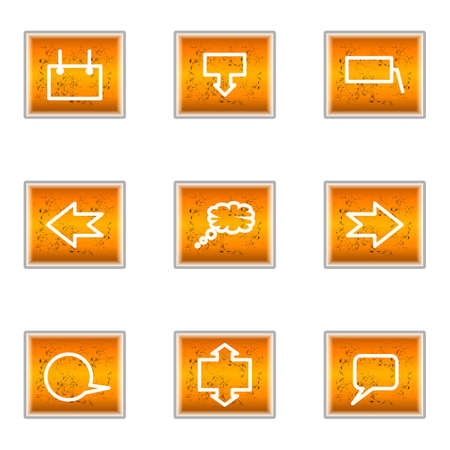 Set of 9 glossy web icons (set 34). Stock Vector - 16241264