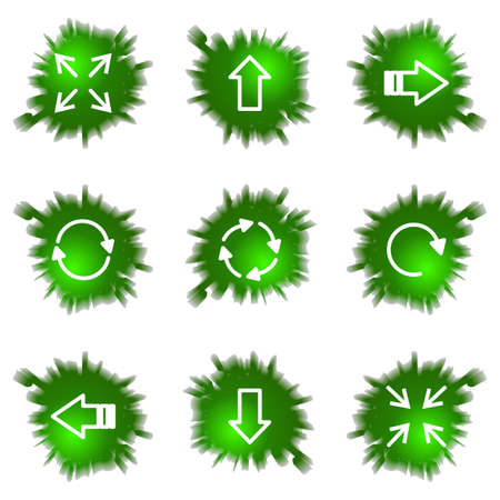 Set of 9 glossy green web icons (see other in my portfolio). Stock Vector - 16241446