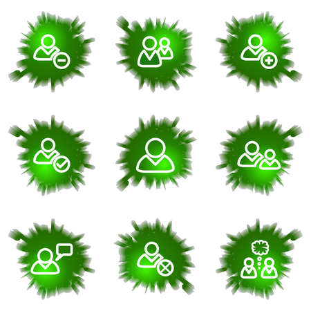 Set of 9 glossy green web icons (see other in my portfolio). Stock Vector - 16241437