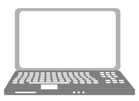 illustration of isolated laptop