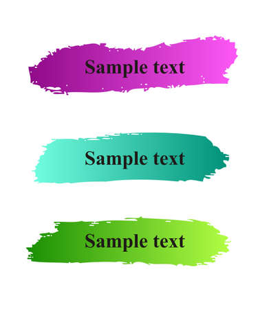 Set of colorful paint grunge banners  Illustration