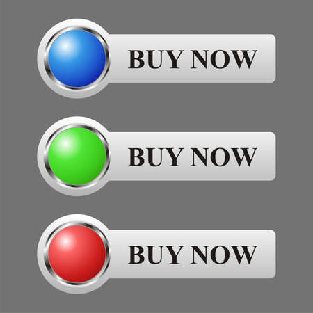 sopping: Shopping glossy basket illustration in three color blue, green, red.