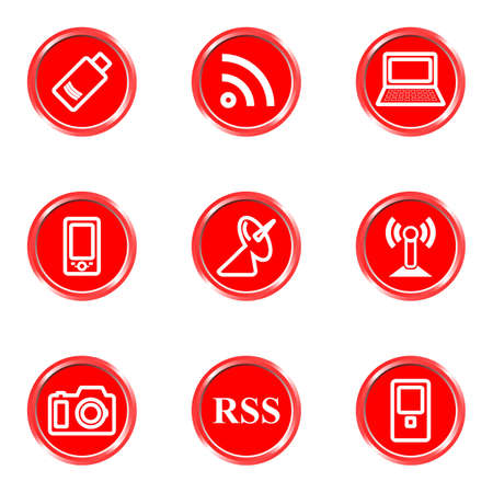 Glossy icons set 1 (see other in my portfolio). Stock Vector - 16630474
