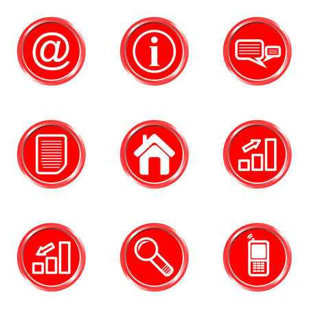 Glossy icons set 2 (see other in my portfolio). Vector
