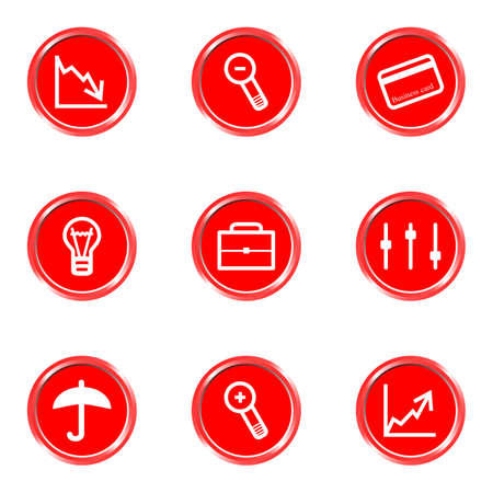 Glossy icons set 7 (see other in my portfolio). Illustration