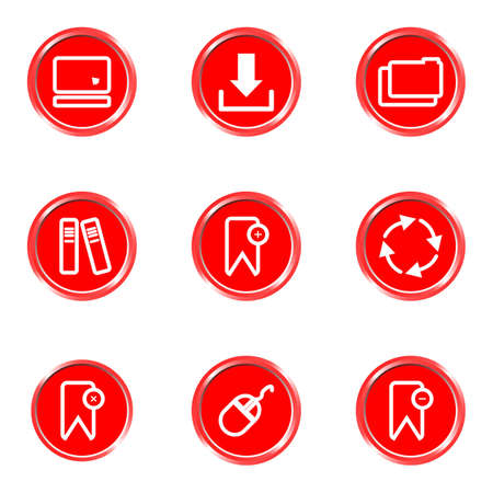 Glossy icons set 10 (see other in my portfolio). Illustration