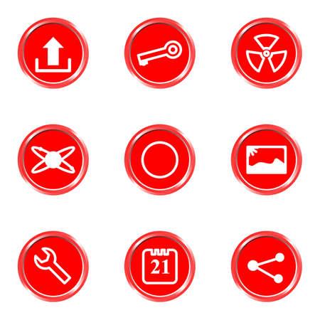 conection: Iconos brillantes establecido 14 (ver otro en mi cartera). Vectores